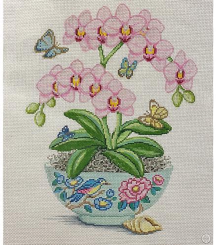 AP 4251 Pink Orchids in Vase 13 mesh