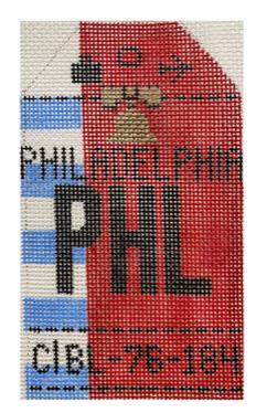 HedgeHog PHL Philadelphia Travel Tag