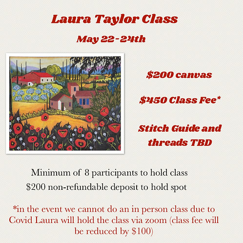 Deposit for Laura Taylor May 22-24th class