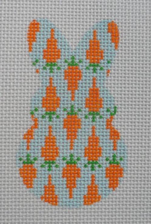 Altstitchery Carrot Bunny (Blue Background)