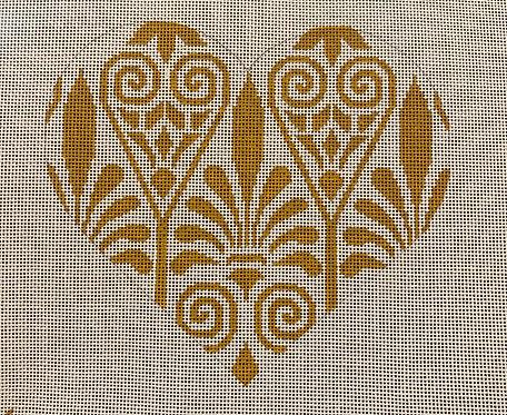 Heidi 161 Gold Design Heart