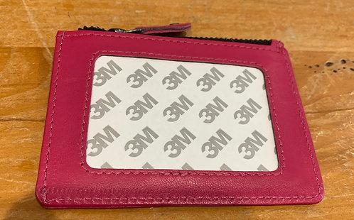 Pink  Zip Purse - Takes 2x3 Insert
