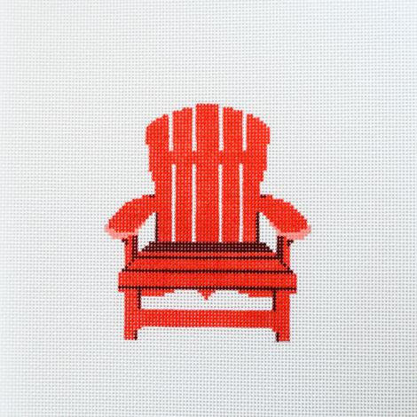 Rachel Barri Designs Red Adirondack Chair