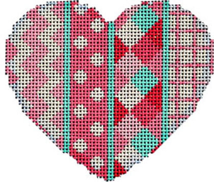 AT HE846 Chevron/Dots/Harlequin Heart