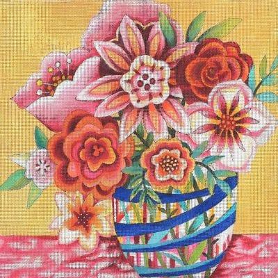 FDP JG-127 Floral Fat Vase