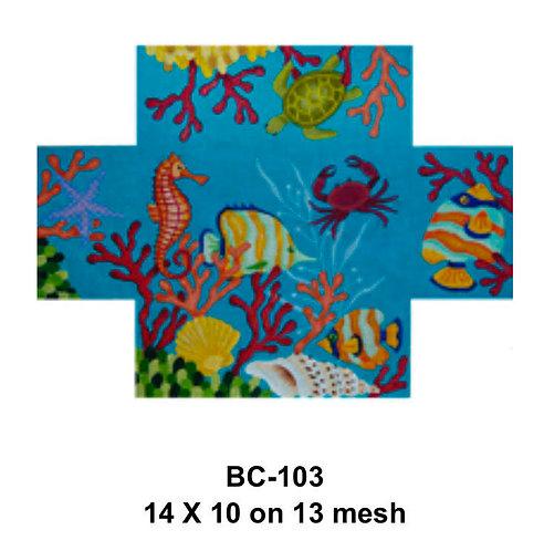 JP Needlepoint BC 103 Seascape Brick Cover