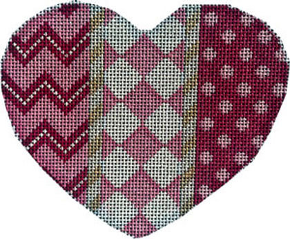 AT HE1008 Chevron/Harlequin/Dots Heart - Large