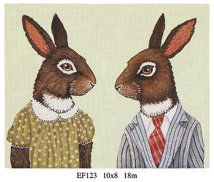 Melissa Shirley EF123 Bunny Couple