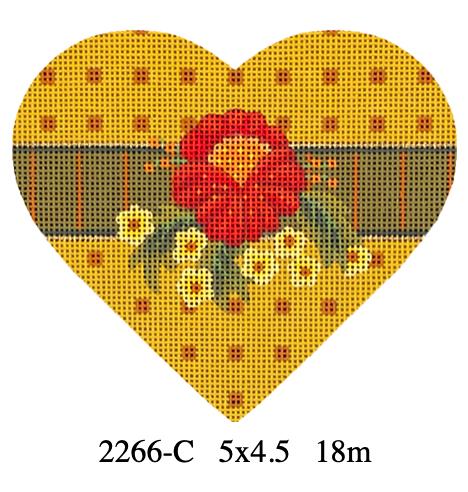 Melissa Shirley 2266-C Autumn Hearts - Red Posy
