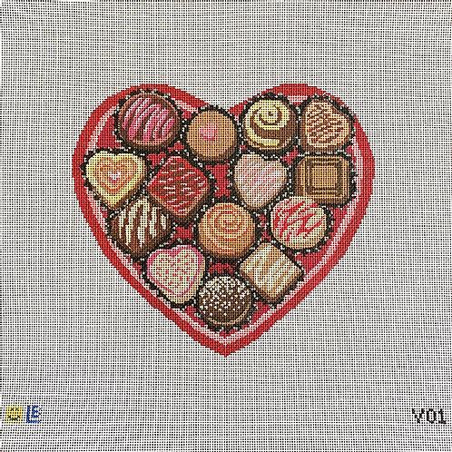Lauren Bloch Chocolate Heart Box
