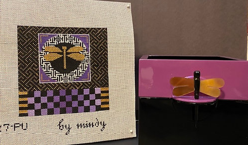 Mindy Purple Lacquer Box and Insert