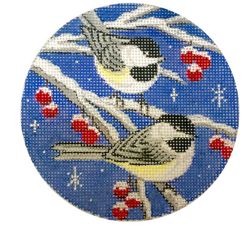 x305 Birds on Blue Sky Ornament