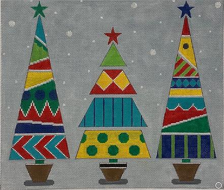 AP 4225 Three Christmas Trees 13 mesh