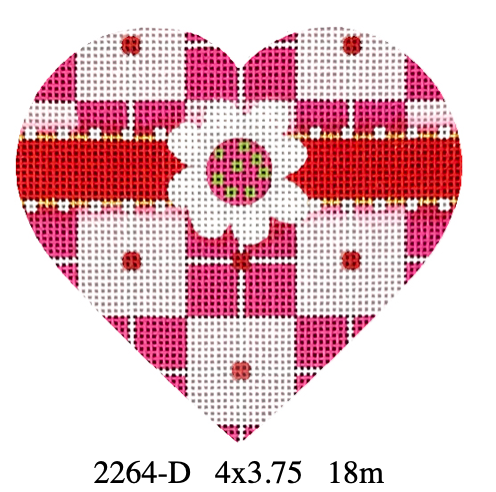 Melissa Shirley 2264-D Plaid Heart
