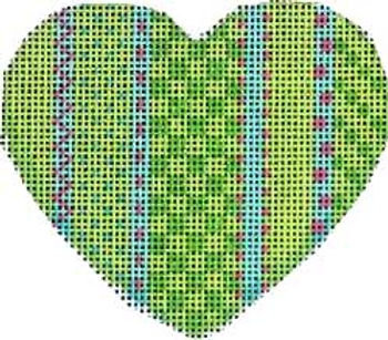 AT HE804 Vertical Lime Patterns Heart