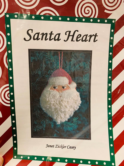 Santa Heart with Stitch Guide