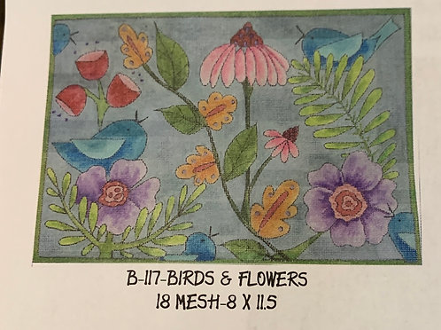 B-117 Birds and Flowers