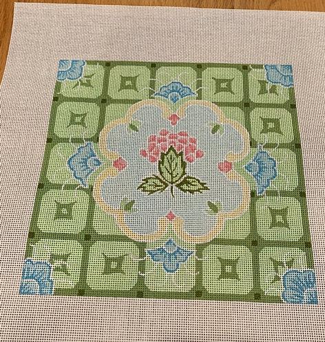 Plum Designs TSG36 Blue & Green Tiles 13 mesh