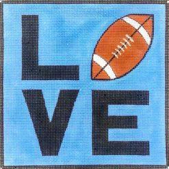 AP 3757 Love Football Square