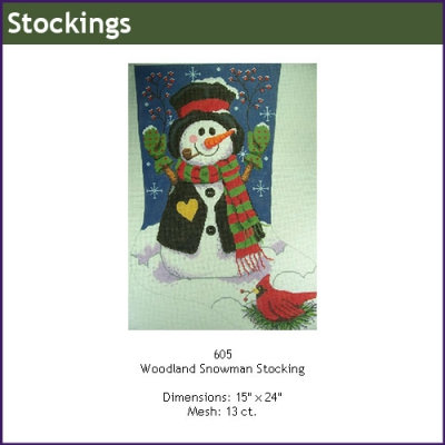 Gayla Elliott GE 605 Woodland Snowman Stocking