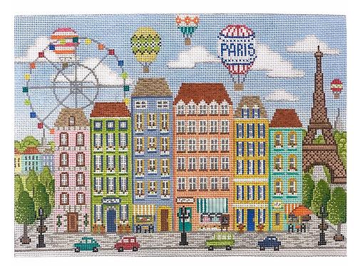 AP4065 Paris Street Scene