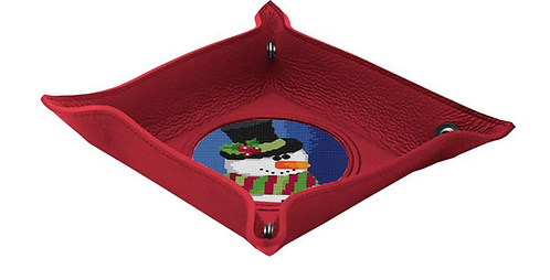 """Lee RED Leather Snap Tray for 3"""" Insert"""
