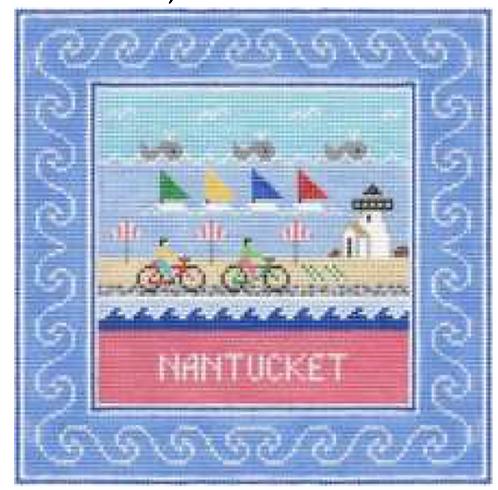 Doolittle Destination Squares 13 mesh Nantucket