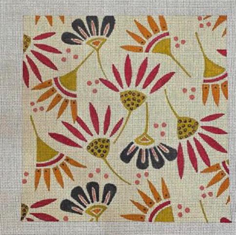Lizzie Clark 13 mesh Flowers on Cream Background