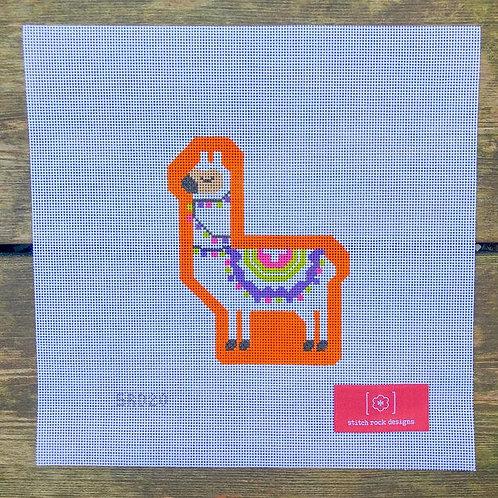 Stitch Rock Designs Orange Llama