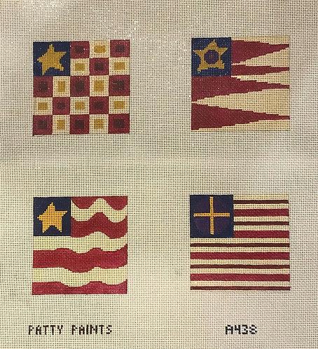 Patty Paints A438 Flag Coasters 18 mesh