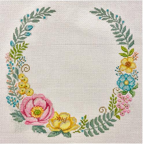 AP 4279 Floral Wreath for Monogram