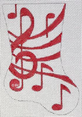 Raymond Crawford HO1995 Red Music Mini Sock