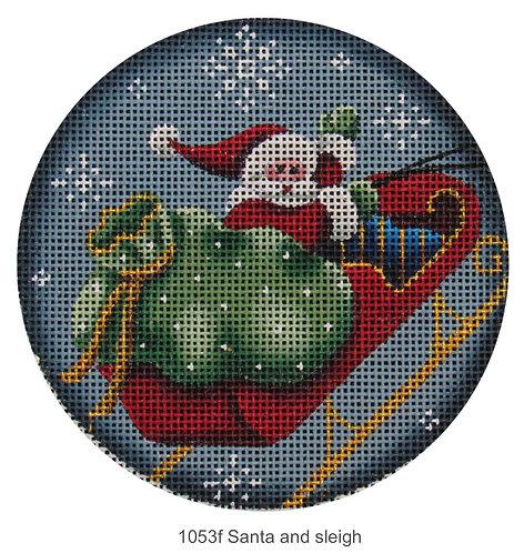 Rebecca Wood 1053f Santa in Sleigh