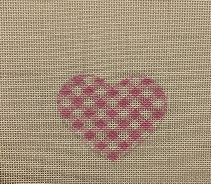 AT HE677 LP Light Pink Checked Mini Heart