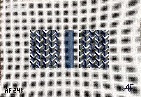 Anne Fisher AF24B Pattern Eyeglass Case Blue