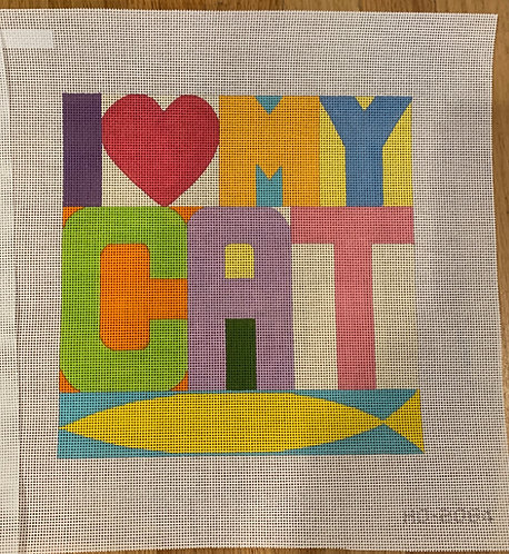 Raymond Crawford HO2064-I Love My Cat 13 mesh