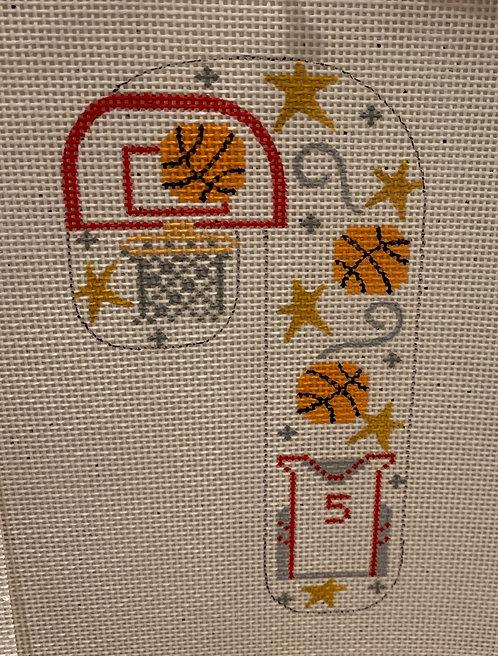 Danji Designs Basketball Candy Cane