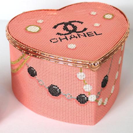 BXLH-02 Lg. Heart Chanel Logo Heart