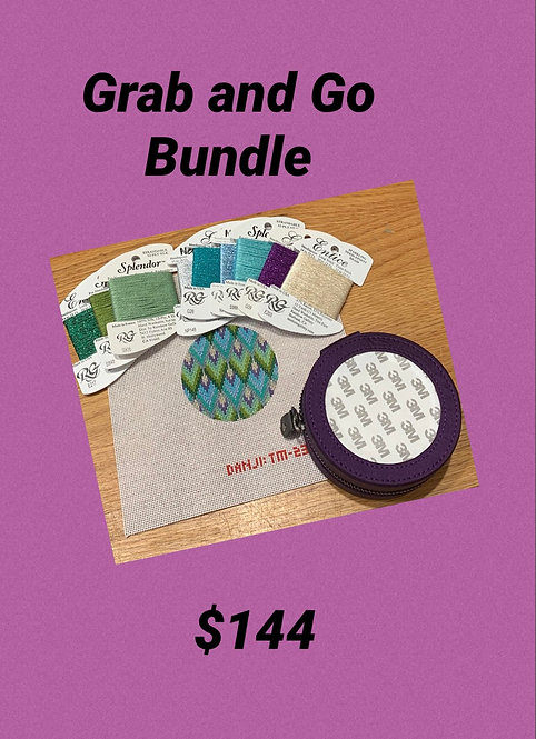 Grab and Go Purple Silk Jewelry Round, Canvas and Threads