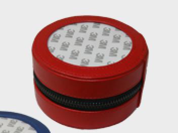 "4"" Red Round Jewelry Case (3"" Insert)"