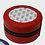 """Thumbnail: 4"""" Red Round Jewelry Case (3"""" Insert)"""