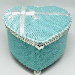 """Funda Scully Tiffany Inspired Heart Box 4.5"""" Heart"""