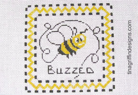 "Griffin Designs Buzzed  4"" Square"