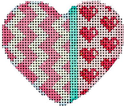 AT HE669 Chevron/Hearts Mini Heart