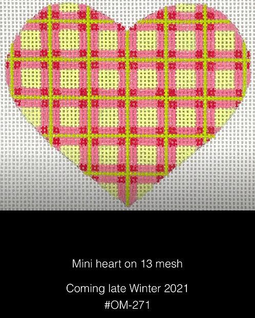 Kate Dickerson OM-271 Plaid Mini Heart 13 mesh