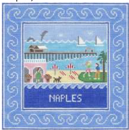 Doolittle Destination Squares 13 mesh Naples
