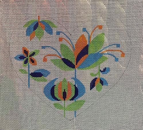 Heidi 350 Multi Colored Flower Heart