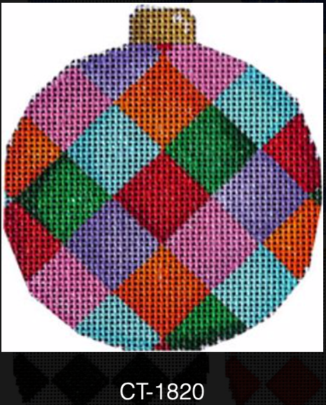 AT CT-1820 Multi-Harlequin Ball Ornament