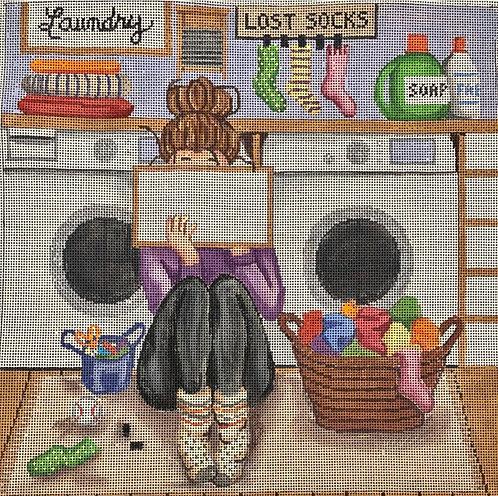 Gayla Elliott Laundry Stitching Girl P307