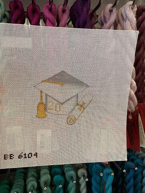 BB6104 White Graduation Cap